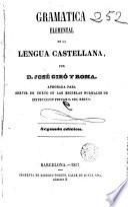 Gramática elemental de la lengua castellana