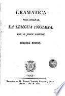 Gramática para enseñar la lengua inglesa