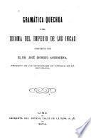 Gramática quechua ó del idioma del imperio de los incas