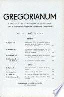 Gregorianum: 1967 Vol.XLVIII.2