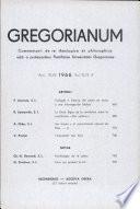 Gregorianum: Vol. 47, No. 43