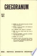 Gregorianum: Vol. 52, No. 1