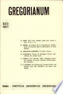 Gregorianum: Vol. 52, No. 2