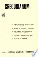 Gregorianum: Vol. 54, No. 1