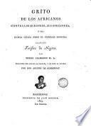 Grito de los africanos contra los europeos, sus opresores