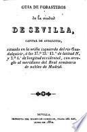 Guía de forasteros de la ciudad de Sevilla