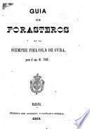 Guia de forasteros de la siempre fiel isla de Cuba
