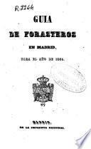 Guía de forasteros en Madrid