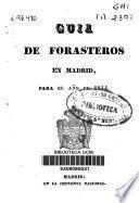 Guía de forasteros en Madrid para el año de 1844