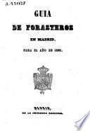 Guía de forasteros en Madrid para el año de 1851