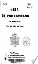 Guía de forasteros en Madrid para el año de 1857