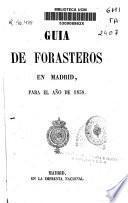Guía de forasteros en Madrid para el año de 1858