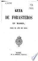 Guía de forasteros en Madrid para el año de 1860