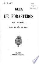 Guía de forasteros en Madrid para el año de 1861