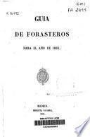 Guía de forasteros en Madrid para el año de 1865