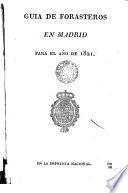 Guia de Forasteros en Madrid para el año...