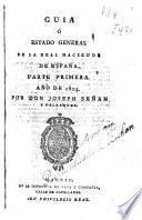 Guia, o estado general de la Real Hacienda de España, 1802-1804
