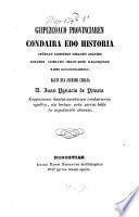 Guipuzcoaco provinciaren condaira edo historia