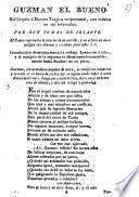 Guzman El Bueno. Soliloquio ú Escena Trágica unipersonal, con música en sus intervalos