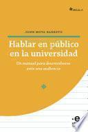 Hablar en público en la universidad
