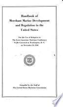 Handbook of Merchant Marine Development and Regulation in the United States