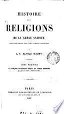 Histoire des religions de la Grèce antique