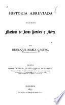 Historia abreviada de la beata Mariana de Jesus Paredes y Flórez