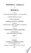 Historia antigua de Megico [sic]