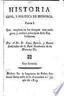 Historia civil, y politica de Menorca