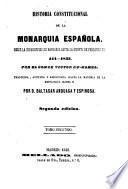 Historia constitucional de la Monarquia española