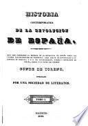 Historia contemporanea de la revolucion de España