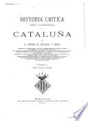 Historia crítica, civil y eclesiástica, de Cataluña
