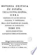 Historia critica de España, y de la cultura española, 16