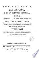 Historia critica de España, y de la cultura española, 17