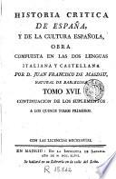 Historia critica de España y de la cultura española, 17
