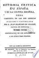 Historia critica de España y de la cultura española, 18