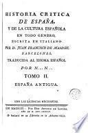 Historia critica de España, y de la cultura española, 2