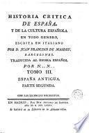 Historia critica de España, y de la cultura española ,3