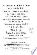 Historia critica de España, y de la cultura española, 4