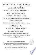 Historia critica de España, y de la cultura española, 5