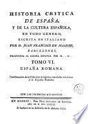 Historia critica de España, y de la cultura española, 6