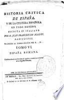 Historia critica de España y de la cultura española, 7