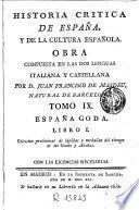Historia critica de España y de la cultura española, 9