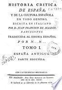 Historia crítica de España y de la cultura española en todo género