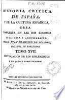 Historia crítica de España y de la cultura española