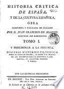 Historia critica de España, y de la cultura española ...