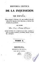 Historia crítica de la inquisición de España, 1