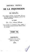 Historia critica de la inquisición de España