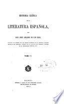 Historia critica de la literatura espanola