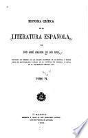 Historia Crítica de la Literatura Espanola